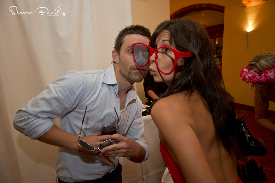 Photo Booth couple with glasses