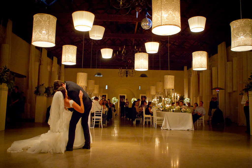 Couple first dance dip