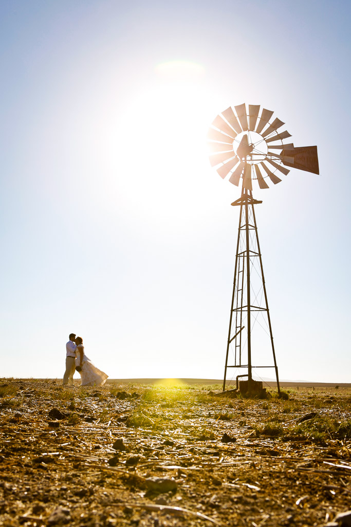 Couple with windmill