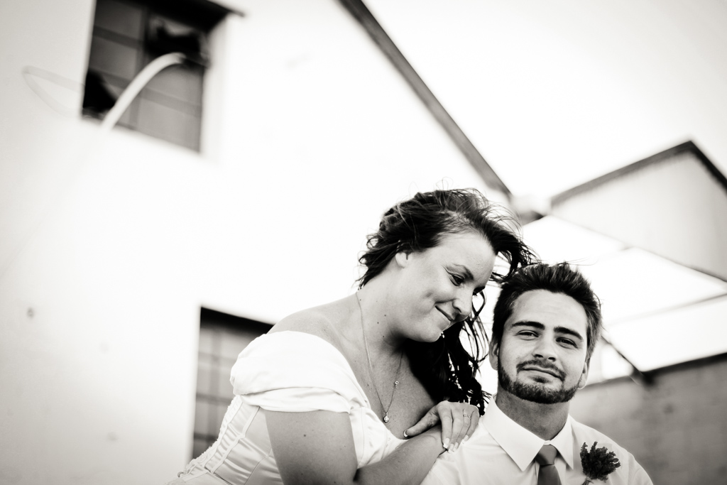 Couple in black and white